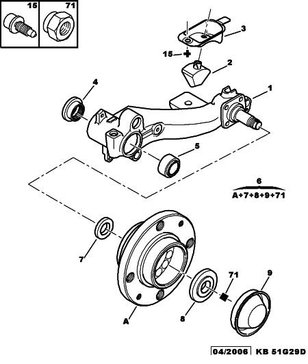 set reparatie punte spate bara torsiune 206. Black Bedroom Furniture Sets. Home Design Ideas
